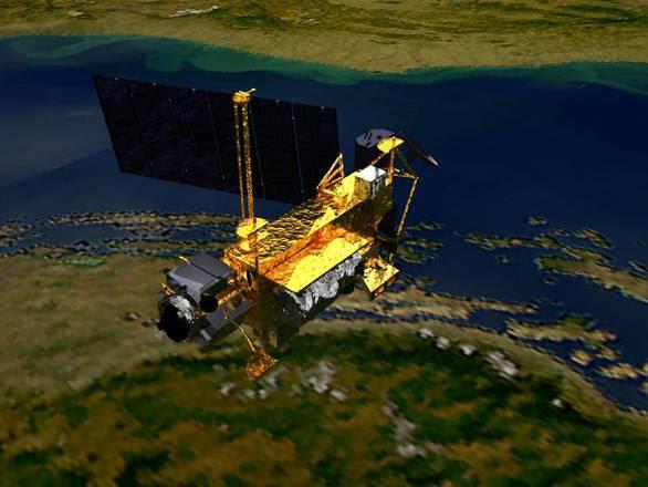 Rappresentazione artistica del satellite Uars (fonte: NASA)