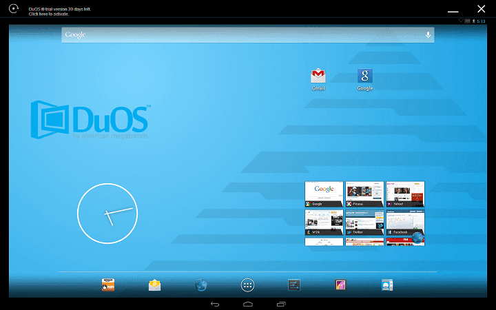 AMIDuOS windows android emulator