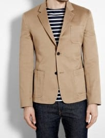 Marc By Marc Jacobs Chino Beige Bauhaus Cotton Blazer