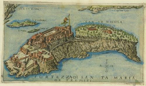 Fortezza di Santa Maria de Tremiti - map of Tremiti island, Italy