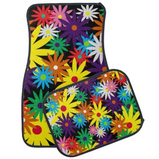 Swish flowers car mat