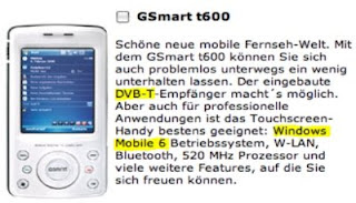 Vodafone Germany confirms GSmart t600