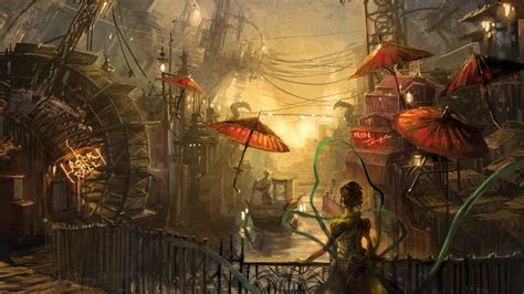 steampunk anime water painting wallpapers steampunk