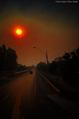 Incendios Santiago de Chile 2014. by Alejandro Bonilla