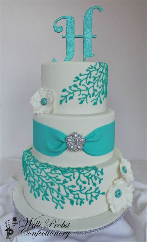 17 Best ideas about Turquoise Cake on Pinterest   Blue