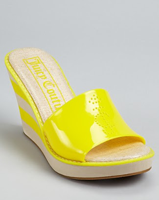 uicy Couture Becka Jelly Slide Wedges