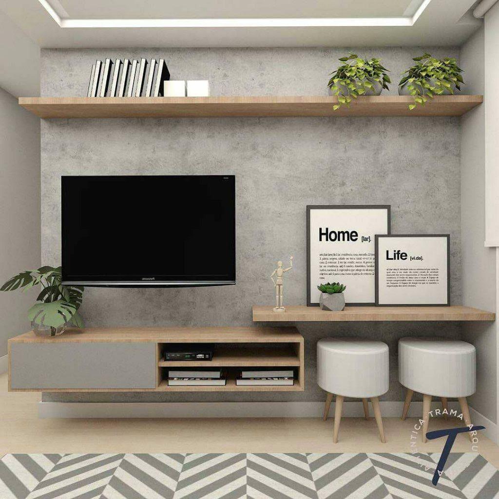 Desain Interior Ruang Tv Minimalis Nuansa Abu Abu Yang Cozy Dan Modern Inspirasi Desain Rumah Terkini