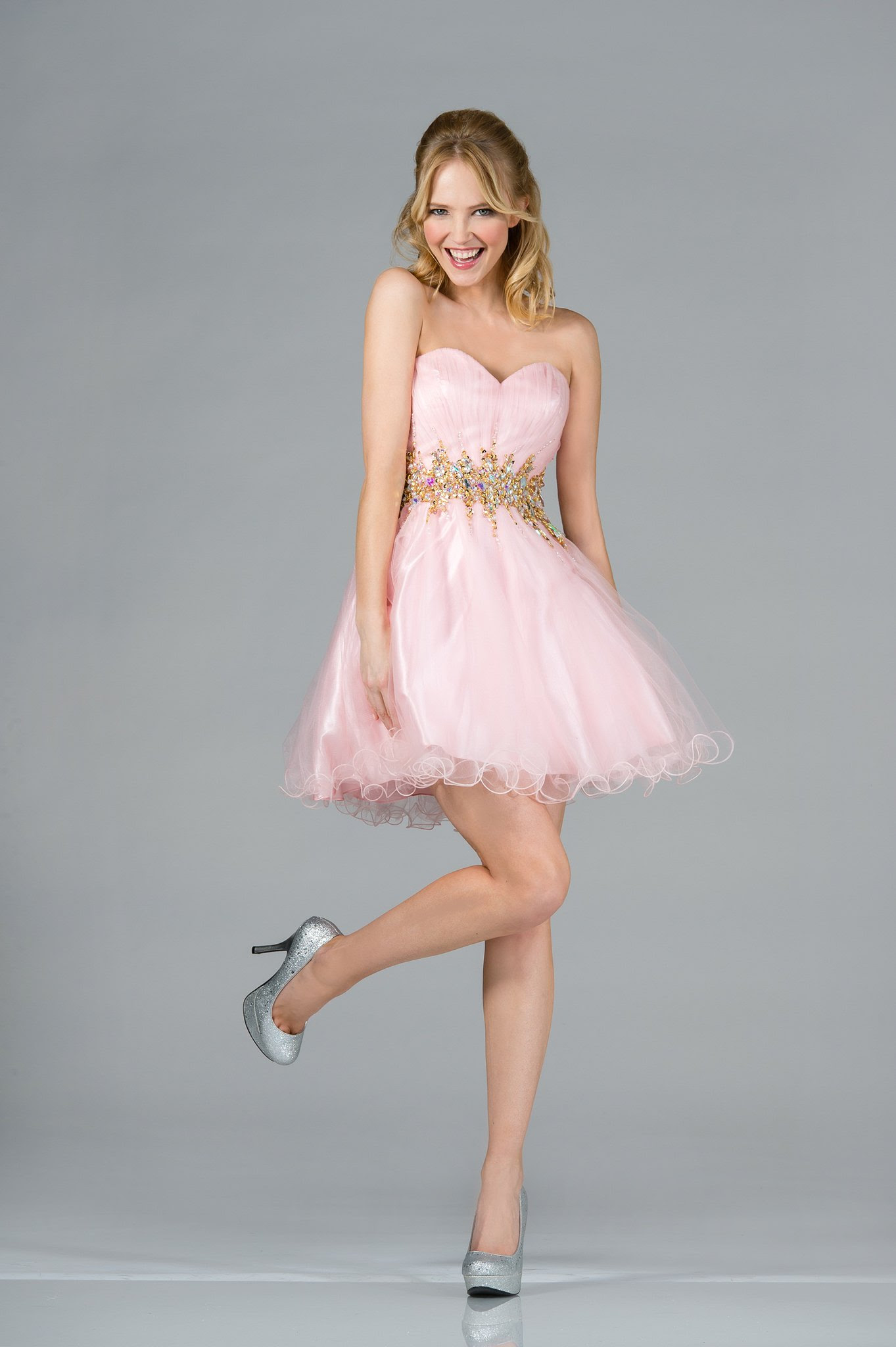 strapless short cocktail goddess cute tutu ruffles