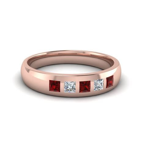Shop For Classy Ruby Mens Wedding Bands   Fascinating Diamonds