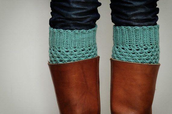 Turquoise leg warmers
