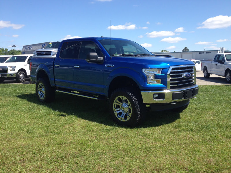 "2016 F150 Blue Flame - 6"" Lift and 35"" Tires - Ford F150 Forum ..."