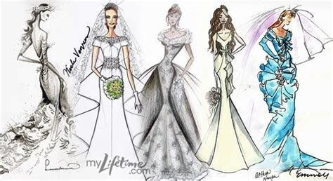 Project Runway designers sketch samples of Kate Middleton