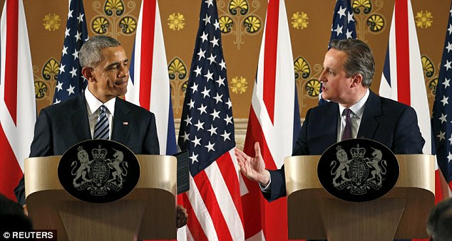 US President Barack Obama warned that Britain would go to the 'back of the queue' for a trade deal with the US if it voted to leave the EU