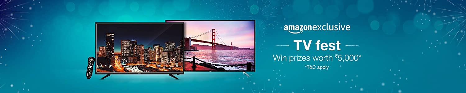 TV FEST: Win prizes as Amazon Gift Cards worth Rs. 5,000