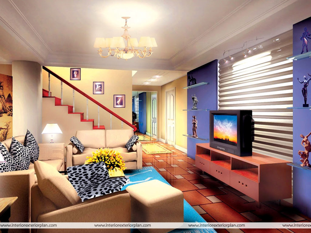 Interior Exterior Plan Living room with magnificent design