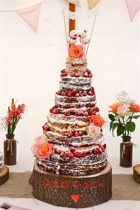 Naked Wedding Cakes ideas, 25 Rustic Naked Wedding Cakes