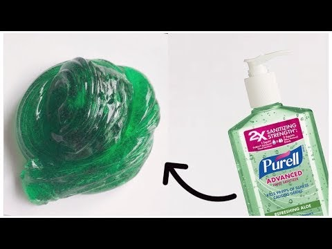 How to Make Hand Sanitizer Slime Without Glue or Borax