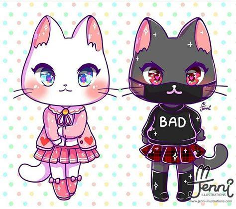 cat fashion   cats   dibujos kawaii