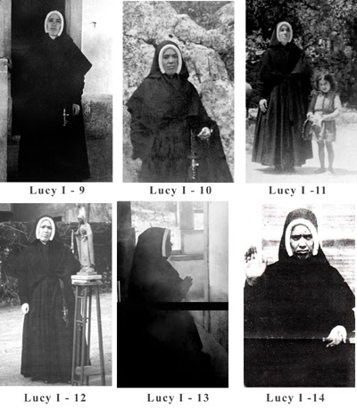 Six photographs of Sister Lucy I
