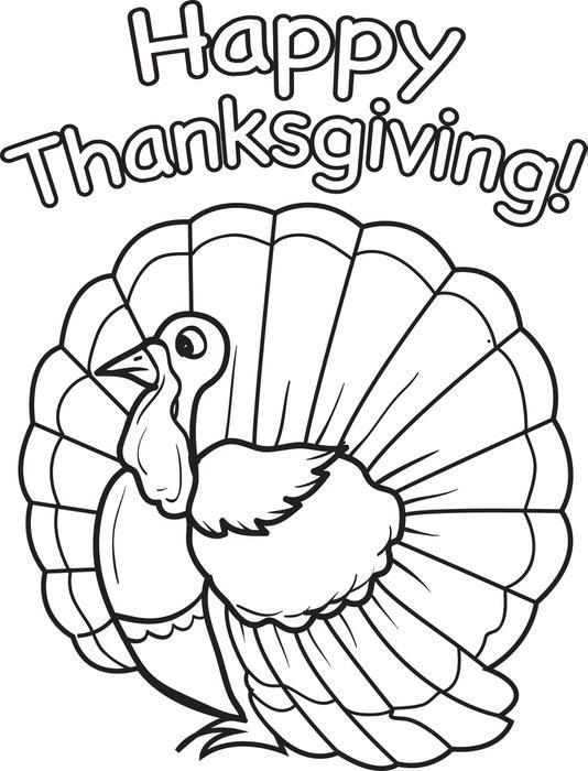 25 Unique Thanksgiving Free Color Pages For Preschool ...