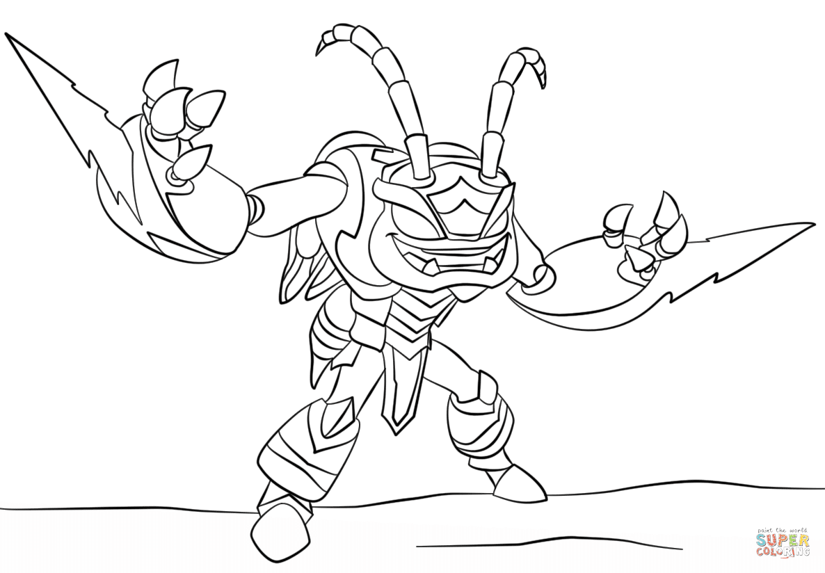 Skylanders Hot Head Coloring Pages At Getdrawingscom Free For