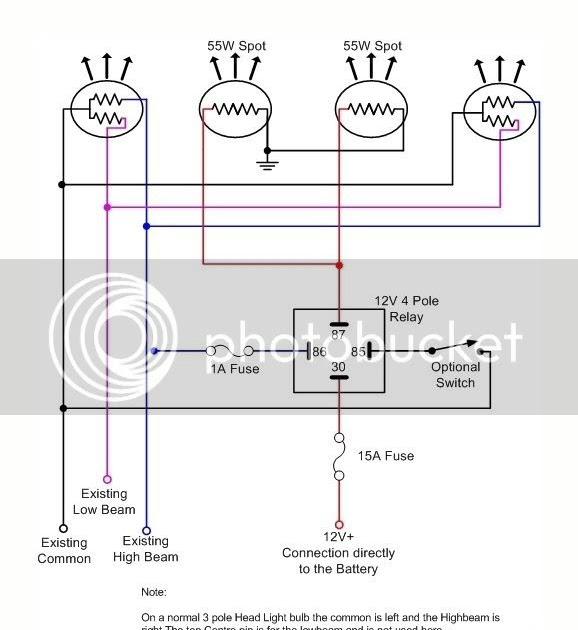 Relay Wiring Diagram For Spotlights