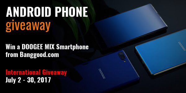 Android Smartphone Worldwide Giveaway. Ends 7/30