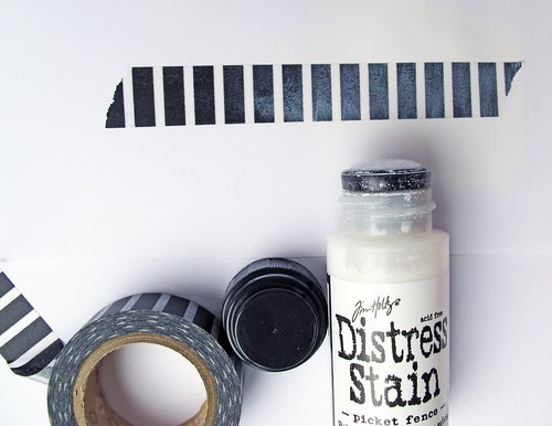Distress Stain on washi tape