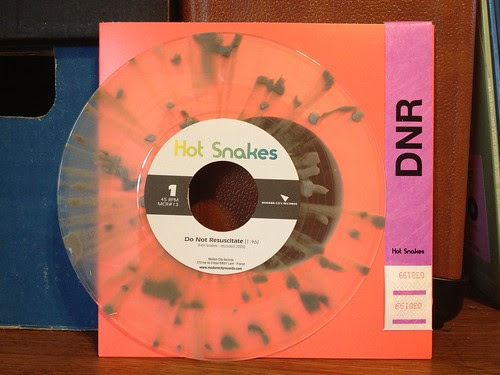 "Hot Snakes - Do Not Resuscitate 7"" - Clear Vinyl w/ Gray Splatter - Thanks @chris_whitehead by factportugal"