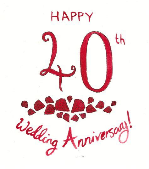 40th Wedding Anniversary Clipart
