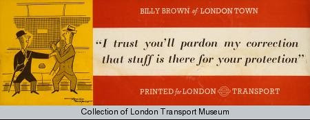 Billy Brown Poster - London Transport Museum