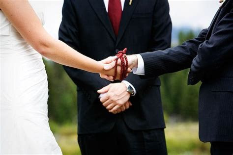 Instead of the unity candle/sand ceremony: Handfasting