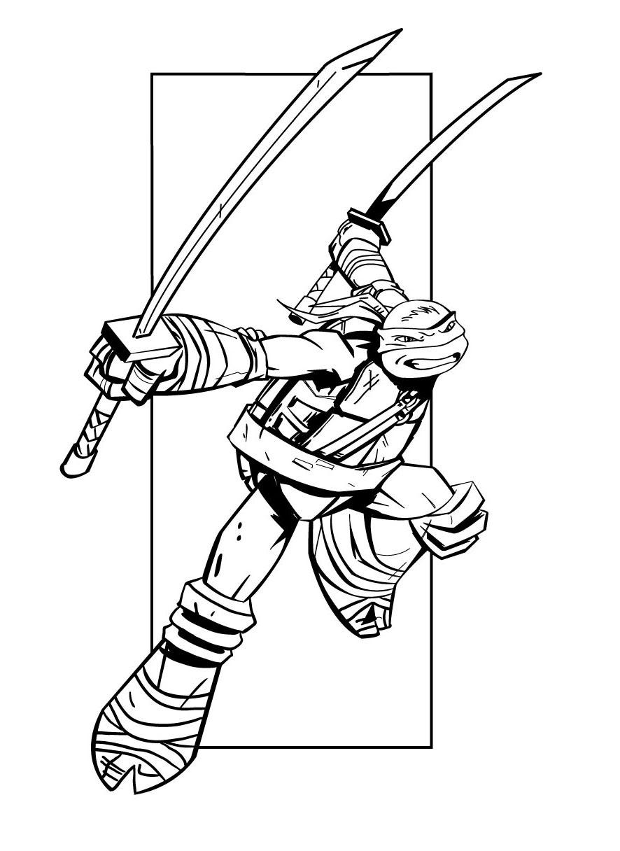 coloriage tortue ninja la nouvelle génération raph leo don mick
