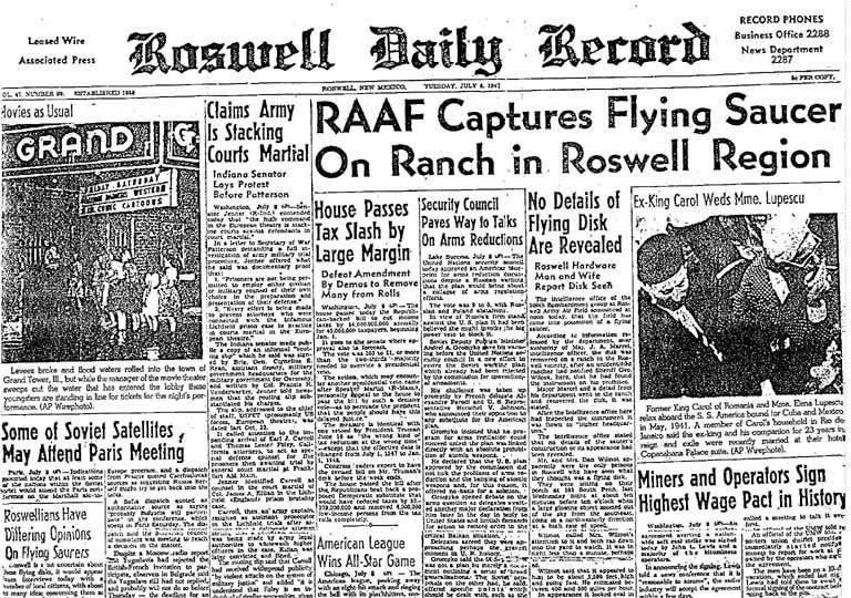 Roswell is noted as a town near the famous 1947 Roswell UFO incident. (Credit: Wikimedia Commons)