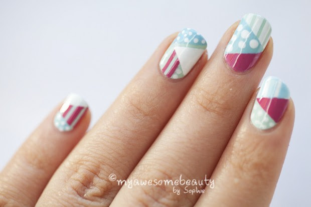 34 Amazing DIY Nail Art Ideas Using Scotch Tape (22)