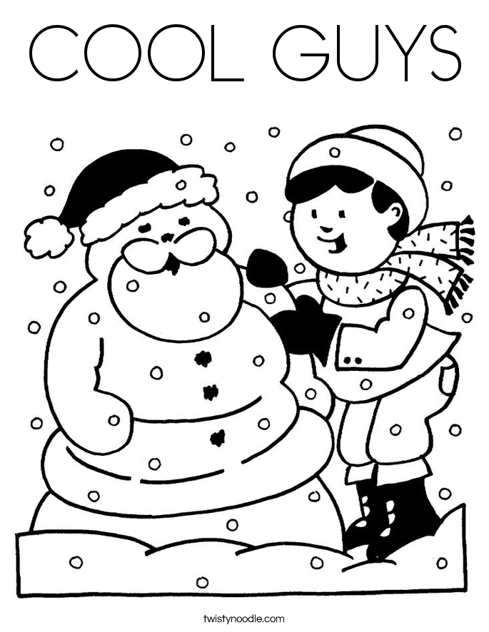 COOL GUYS Coloring Page - Twisty Noodle