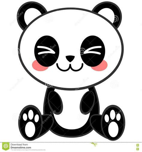 kawaii panda stock vector illustration  manga cute