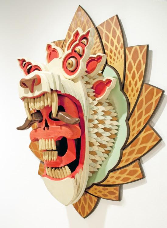 masque aj fossik 06 549x750 Les monstres en relief dAJ Fosik  art