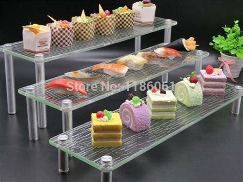 Three Tier Acrylic Wedding Cake Plastic Stainless Buffet