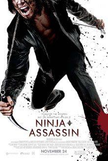 NINJA ASSASSIN movie poster.