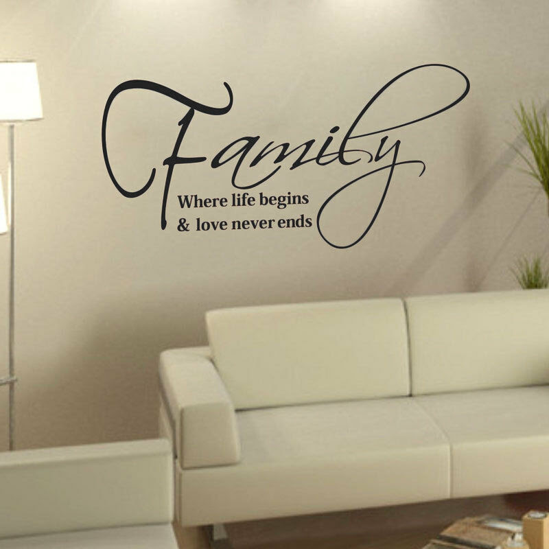 Family Love Quote Removable DIY Art Vinyl Wall Sticker ...