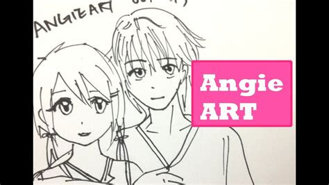 draw manga couple anime boy anime girl hug