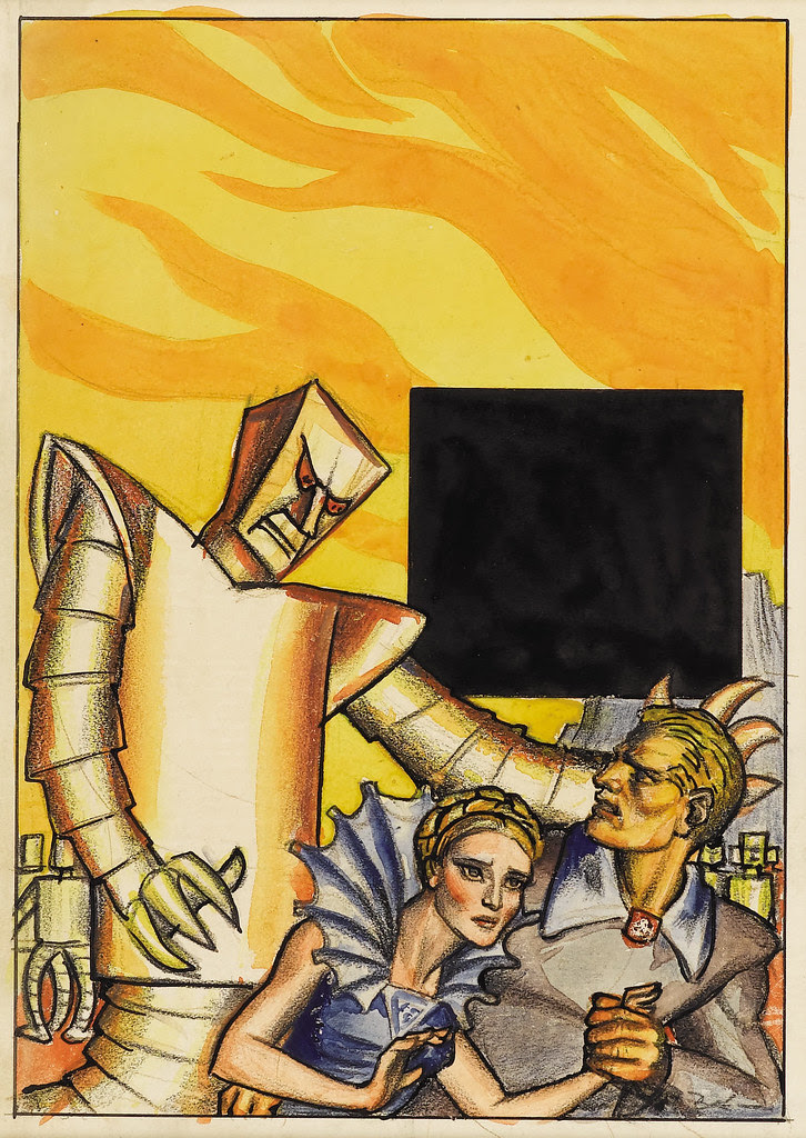 Hannes Bok - The Robot God, circa 1941