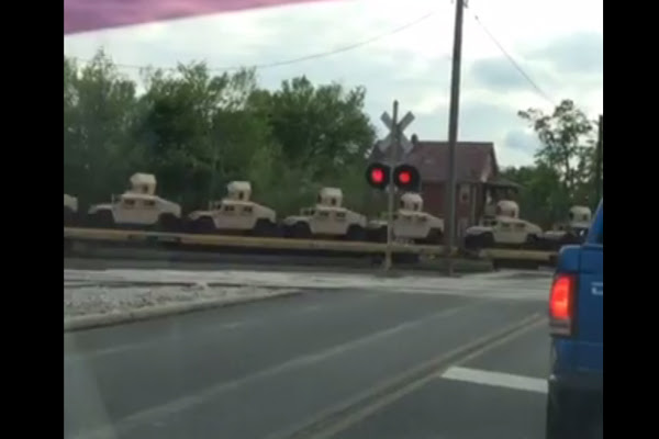 Alert Hundreds of military Humvees spotted heading towards Cleveland, Ohio