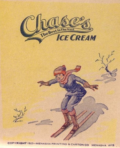 We All Scream for Ice Cream - Vintage Chase's Ice Cream One-Half Pint Cardboard Container