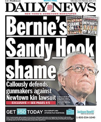 Bernie Sanders Is Under Fire Again on NY Daily News Front Page