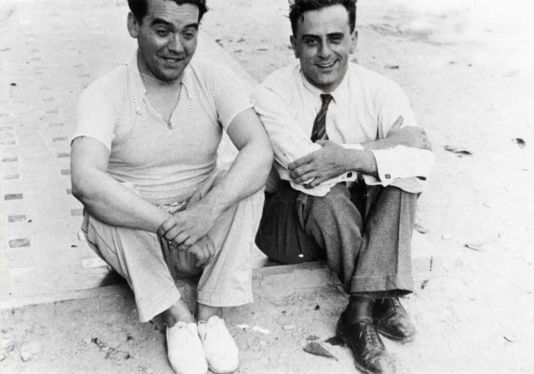 <p>Federico García Lorca y Miguel Pizarro, en 1934.</p>