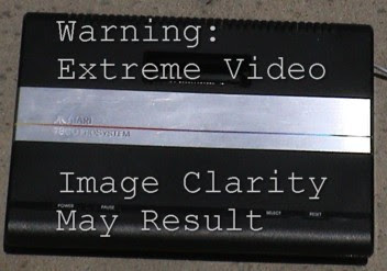 Warning: Extreme Video Clarity for the Atari 7800!