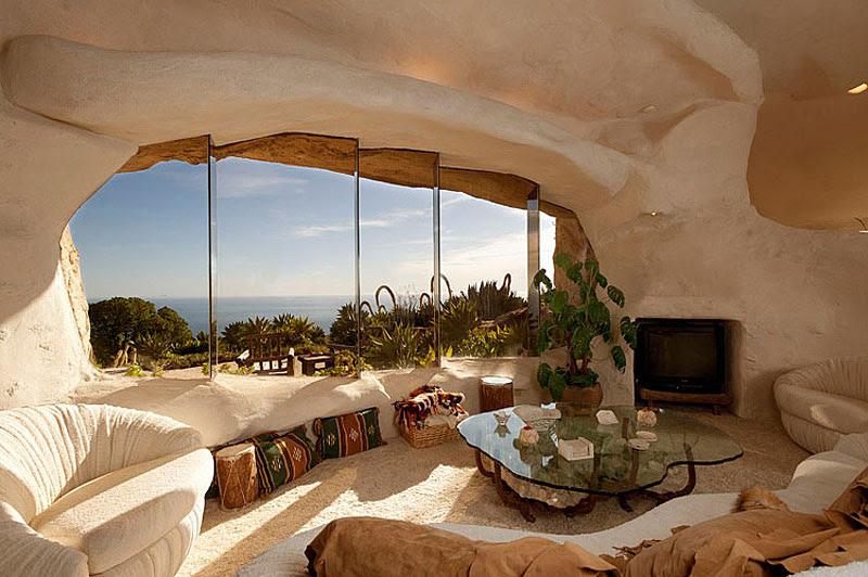 Architecture: Epic Flintstones Style Malibu Retreat Home Design In ...