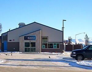 Alaska Communications retail outlet, corner of...